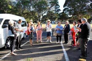 Community Connector volunteers on field trip