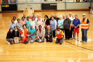 Community Connectors field trip: Mill Park Basketball Stadium Walking Football Program